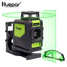 Huepar Niveau Laser Vert Faisceau Croix Laser Auto-nivellement 360-Degré avec 2