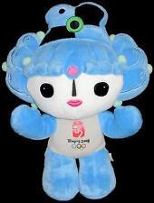 "Beijing Olympics 2008 BeiBei Blue Mascot Stuffed Plush Doll 12"" Soft Toy"