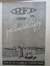 8/1945 PUB RFD AIR SEA RESCUE EQUIPMENT DINGHY RAF PILOT ORIGINAL AD