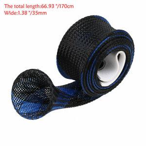 1-10 Pcs Fishing Rod Covers Fish Sleeve Sock Pole Braided Mesh Protectors Gloves