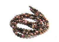 """1 Strand Rhodochrosite Round 6-6.5mm Smooth Plain Gemstone Loose Beads 13""""Inch"""