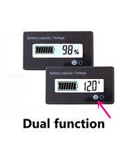 12V Lead Acid Battery Fuel Gauge Indicator Meter SLA,AGM,GEL Battery white