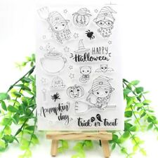 Happy Halloween Transparent Clear Silicone Stamps for DIY Fun Scrapbooking/Card