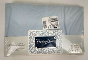 Twin Extra Long Fitted Sheet Blue Lands End Coming Home 50/50 Blend Percale New
