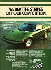 1977 Triumph TR-7 magazine ad - Motor Trend - Shape of Things That Win