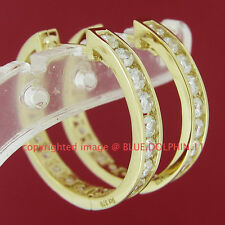 Real Genuine Solid 9ct Yellow Gold Huggies 18mm Hoop Engagement Wedding Earrings