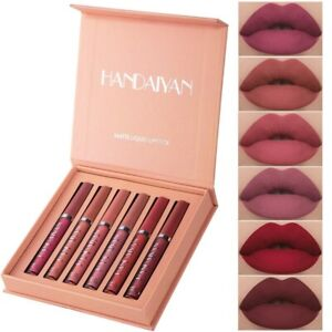 6PCS/Set Long Lasting Lip Gloss Glazed Matte Beauty Liquid Lipstick Lip Make-up