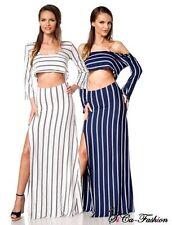 Gestreifte Markenlose bodenlange Damenkleider für die Freizeit