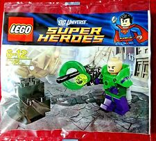 "Lego Super Heroes ""LEX LUTHOR"" MiniFigure 30164 Rare New 2012 Exclusive Polybag"