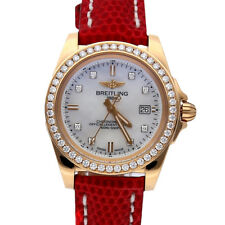 Breitling Galactic Sleek Edition Rose Gold Quartz Ladies Watch H7133053/a803
