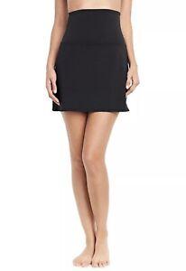 LANDS' END Women's Tummy Control Ultra High Waisted Modest Swim Skirt Black 8