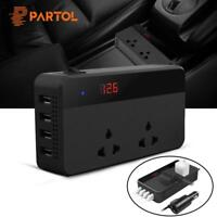 Car Inverter Power DC 12V To AC 220V 200W 4 USB Charger Cigarette Lighter
