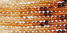 "14"" St Tiny Hessonite Garnet  Round Beads 2mm Gemstone"