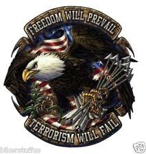 FREEDOM WILL PREVAIL TERRORISM WILL FAIL STICKER