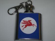 Mobil Oil Pretroleum Petrol Pegasus Hip Flask 1oz Key Ring