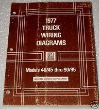 1977 GMC CHEVY 40 50 60 90 95 MEDIUM HEAVY DUTY TRUCK BUS Wiring Diagrams Manual