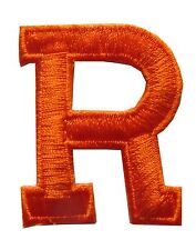 """Letters-Orange Letter """"R"""" Embroidery Iron On Applique Patch"""