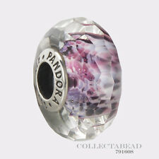 Authentic Pandora Sterling Silver Murano Pink and Purple Sea Glass Bead 791608