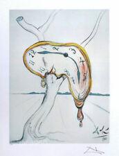 Salvador DALI The Soft Watch Facsimile Signed Litho Print 22 x 16-1/2