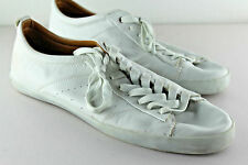ZARA Man White Perforated Soft Leather Trainer Sneakers Portugal EU 45 US 12