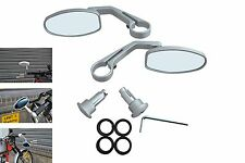 Quality Silver CNC Machined Bar End Mirrors Royal Enfield Cafe Racer Project