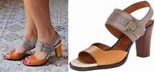 CHIE MIHARA SHOES ZAKURO COLOR BLOCK HEEL SANDALS NEW NIB 9 $398 MASAI NUDE $400