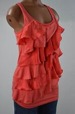 Charlotte Russe Pink Ruffled Tiered Tank Top size M