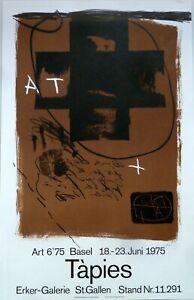 Antoni Tapies: Art 6'75 Basel. Signiertes Plakat, Original-Farblithografie.