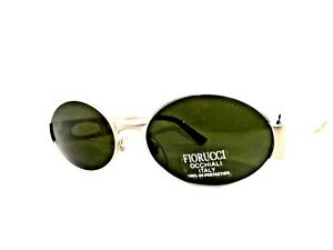 FIORUCCI Sunglasses Men Woman Ages 90 Vintage Metal Made IN Italy Oval