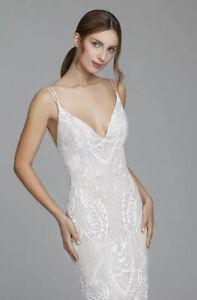 NWT Lazaro Rosalina Wedding Dress Tara Keely Lace Sheath Bridal Gown