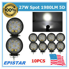 10W 27W 1980LM Led Work Light Spot 5D Lens Driving Vehicle Car Trailer Boat IP67
