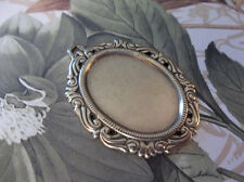 25X18mm Antiqued Brass Setting - Vintage Inspired Swag Design Cameo Frame Qty 2