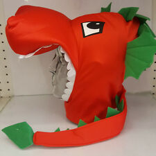 Dragon Hat With Tail Welsh Rugby Fans St Davids  Top Quality Soft Padded Large