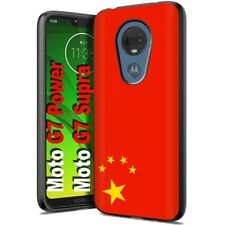 Thin Gel Phone Case Motorola moto g7 power,Flag China Red Five Star Nation Print