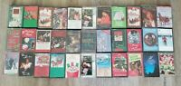 Lot of 33 Vintage Holiday Christmas Cassette Tapes Country, Classics, Gospel