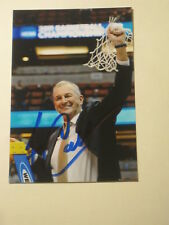 JIM CALHOUN Signed 4x6 UCONN HUSKIES Photo AUTOGRAPH 1E