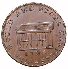 1794 England Middlesex Shackelton's Candle Store Halfpenny Conder Token D&H-476