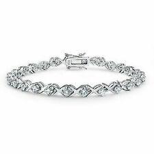 Bling Jewelry XOXO Hugs Kisses 925 Sterling Silver CZ Tennis Bracelet