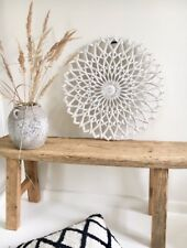 Affari* Wandornament Holz weiß, 60x60cm,BOHO,Wanddekoration,Wooddecor