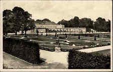 Hannover Herrenhausen Niedersachsen s/w AK 1938 gelaufen Partie im großen Garten