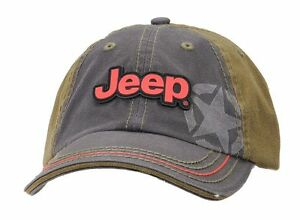 Jeep Cap, Kappe Stone Washed Black and Olive Jeep® Cap original