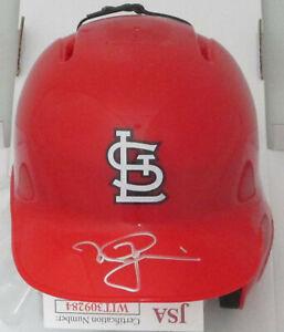 Cardinals MARK McGWIRE Signed Rawlings Baseball Mini Helmet AUTO - JSA