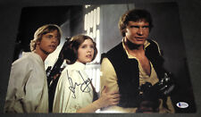 Harrison Ford signed Star Wars poster 12x18 photo proof Han Solo BAS Beckett