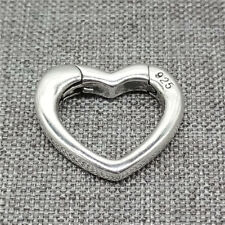 925 Sterling Silver Love Heart Lobster Clasp for Bracelet Necklace