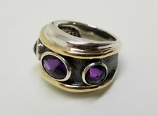 David Yurman Renaissance Amethyst Ring sz 7 Sterling silver 925 14k gold