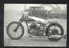 REAL PHOTO ARIEL MOTORCYCLE ADVERTISING POSTCARD COPY MOTORBIKE OLD CARS