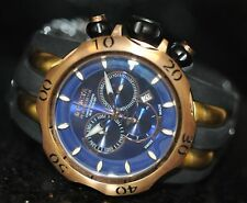 Invicta Men's Rare Venom Reserve Swiss Chrono Blue Dial Black Poly Watch 10831