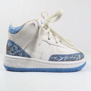Nike Air Jordan Fusion 3 White/Gold/Blue in Size 4C (Toddler)