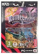 Roller Coaster Tycoon 3 Deluxe Edition (PC) Brand New Sealed - Free U.S. Ship