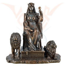 Cybele greek mother of gods on throne cold cast bronze Statue by Veronese.Great.